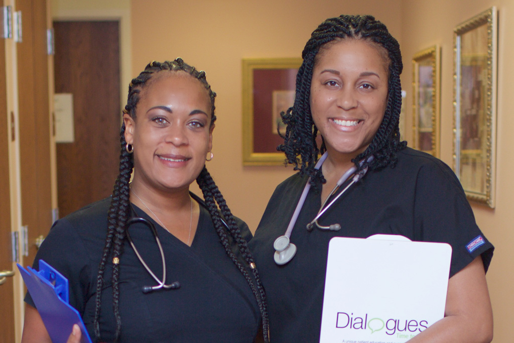 Medical Assistants Sandy Vick & Peaches Wilson