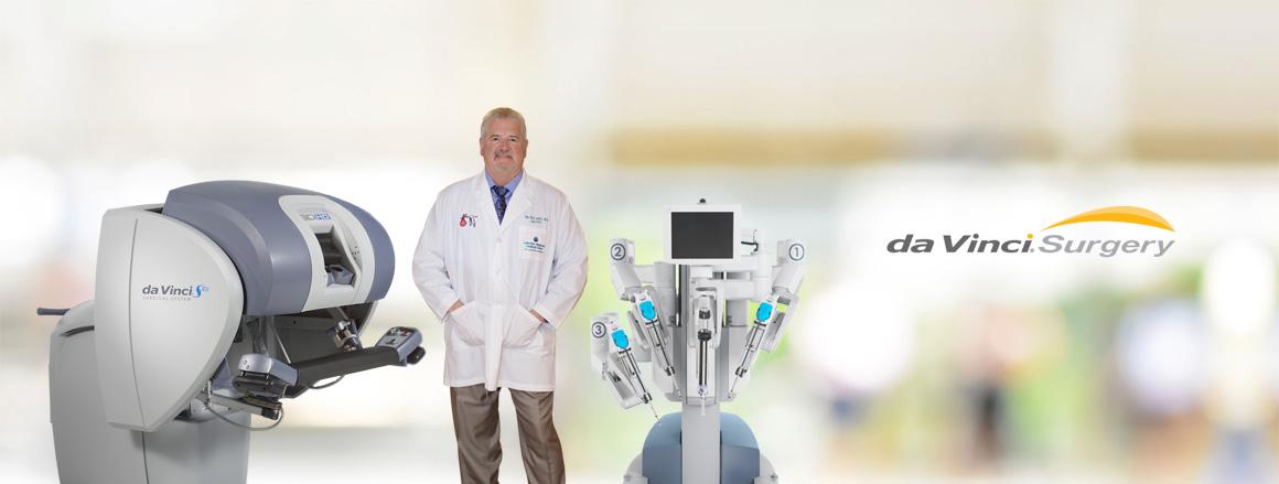photo of da vinci robot used for minimally invasive surgery