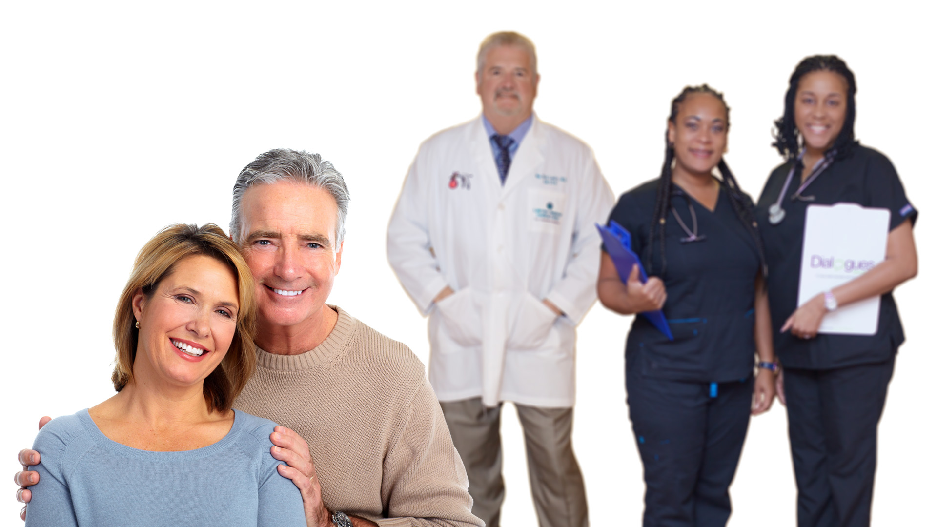 hormone replacement therapy happy smiling couple with Dr. Nick Landry's medical team